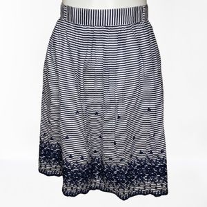 Kate Spade striped embroidered skirt